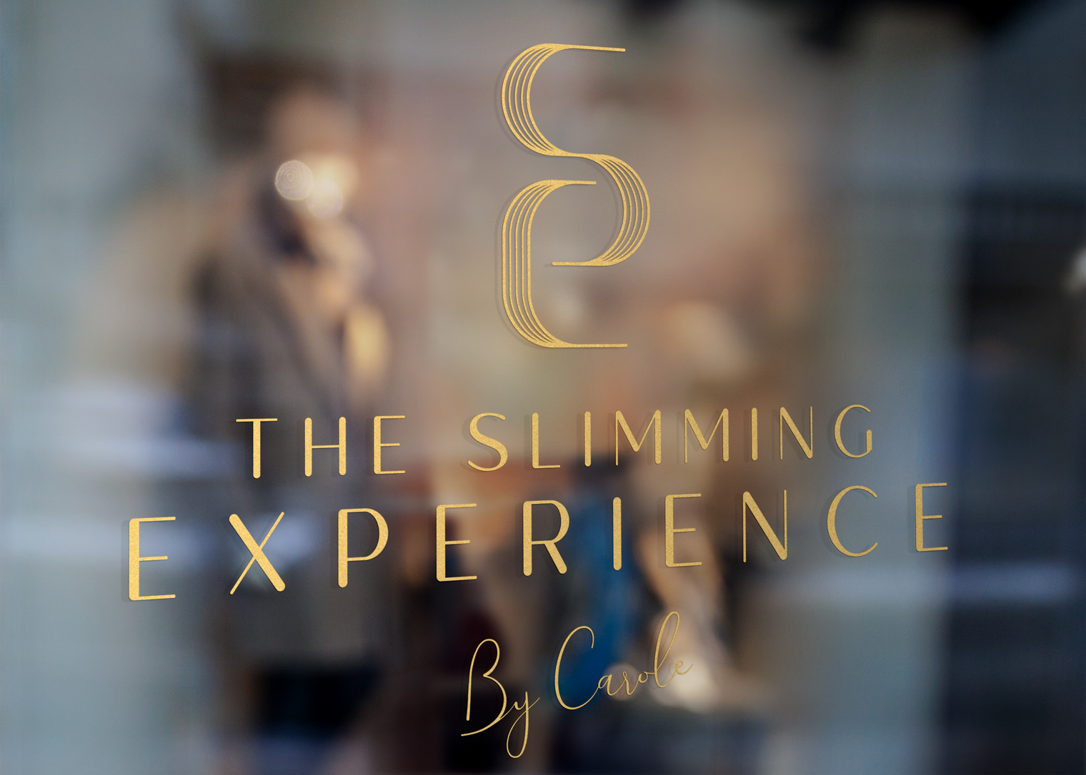 logo sur vitrine The slimming experience