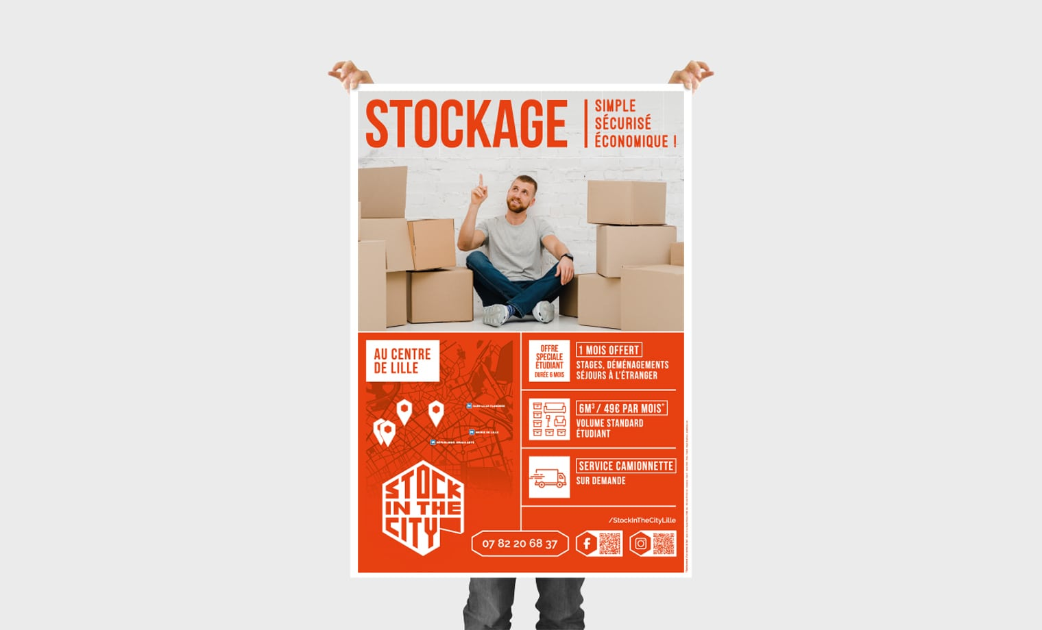 Affiche Stock in the city